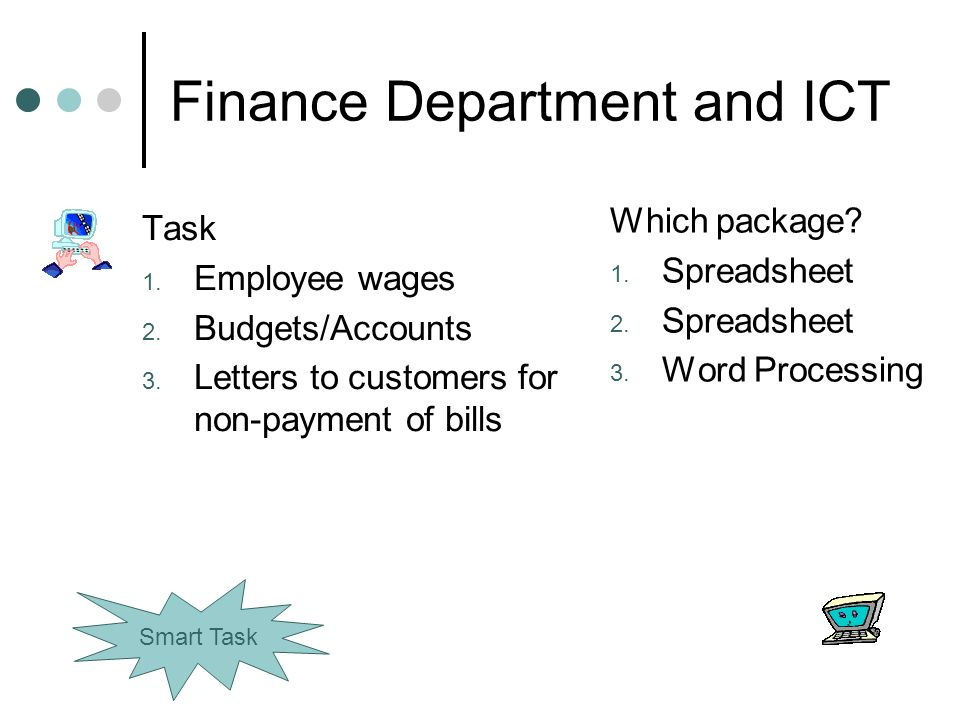 Finance Department and ICT