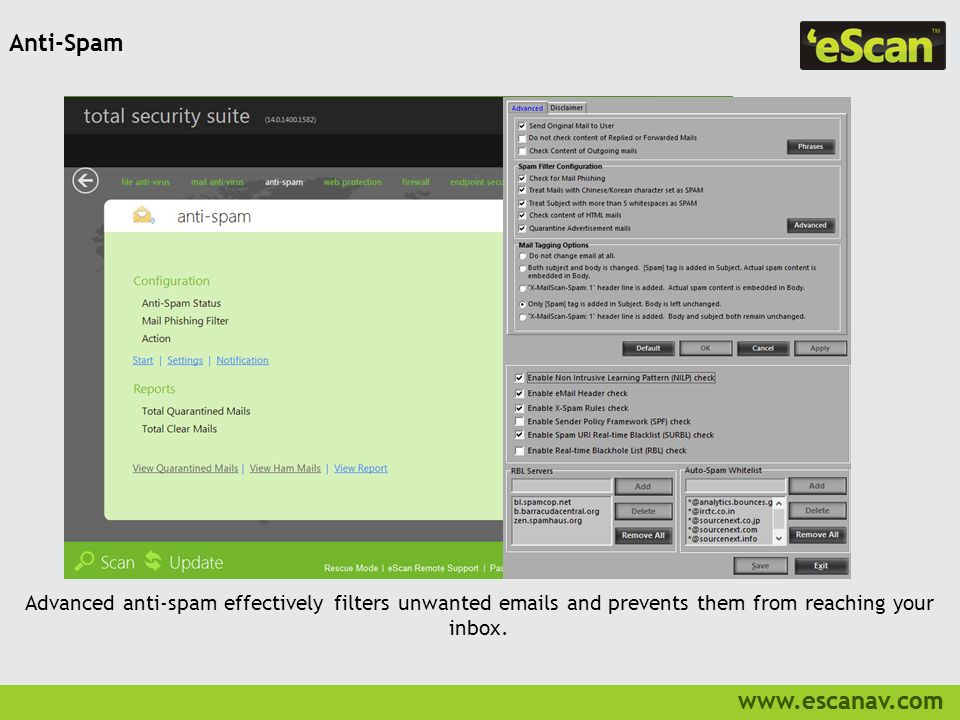 eScan Total Security Suite with Cloud Security - ppt video online