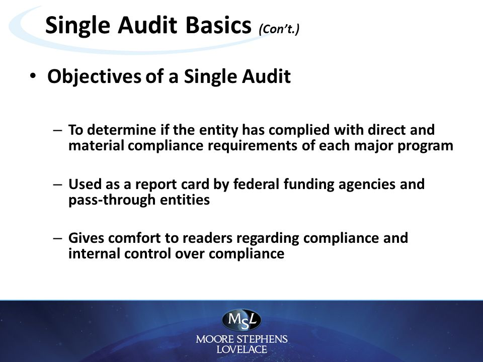 Federal & State Single Audit Issues - ppt download