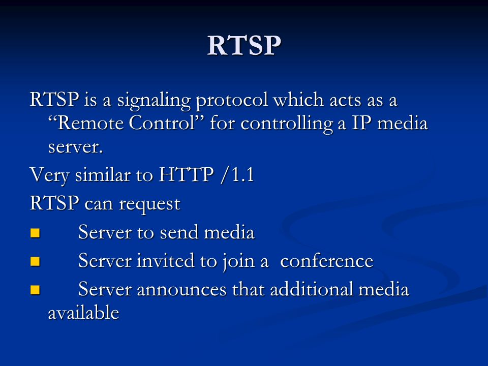 RTSP Real Time Streaming Protocol - ppt video online download