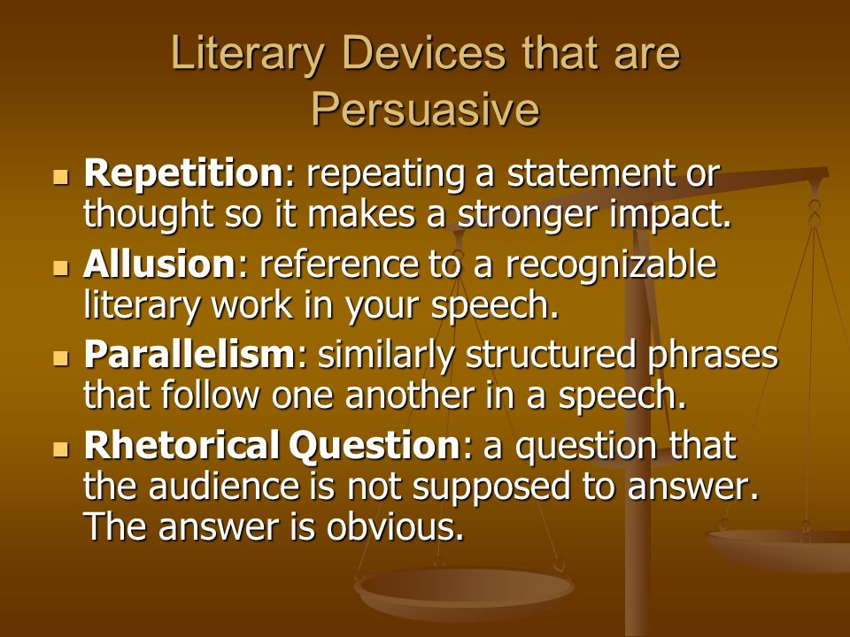 Literary Devices that are Persuasive