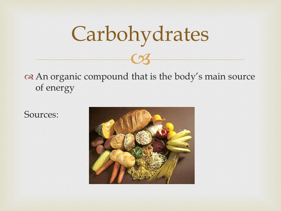 a summary on carbohydrates as the main energy source Nutrients get converted to atp based on the intensity and duration of activity, with carbohydrate as the main nutrient fueling exercise of a moderate to high intensity, and fat providing energy during exercise that occurs at a lower intensity.