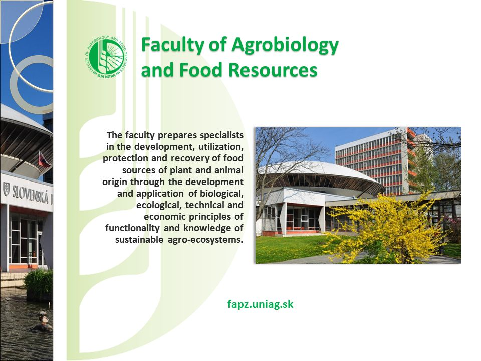 Faculty of Agrobiology and Food Resources
