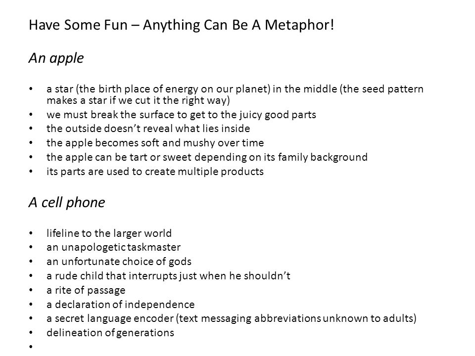 Metaphors & Analogies: Power Tools for Learning - ppt download