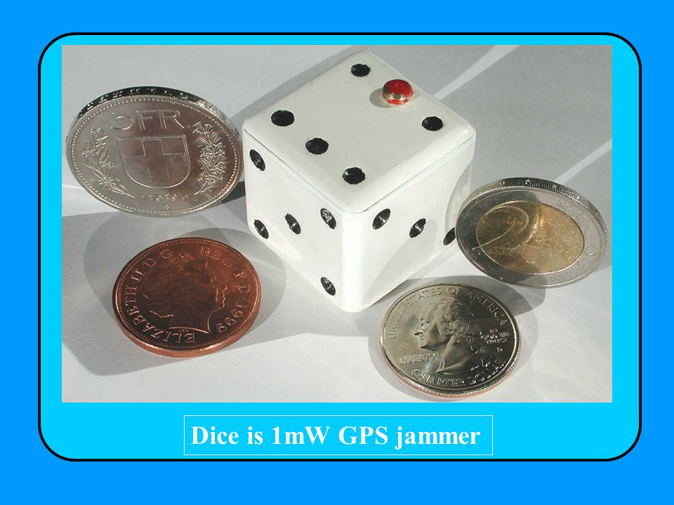 Dice is 1mW GPS jammer