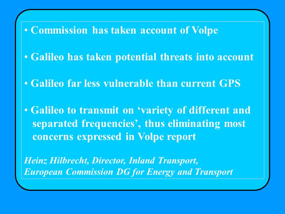 Commission has taken account of Volpe