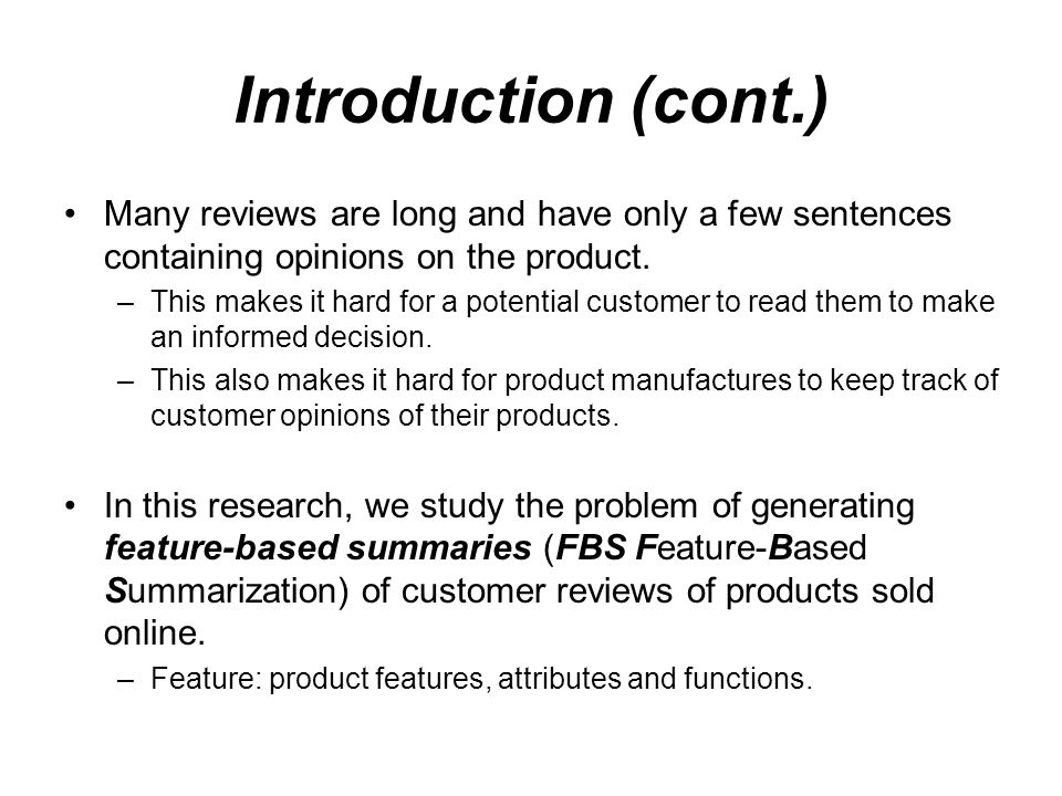 Mining and Summarizing Customer Reviews - ppt video online