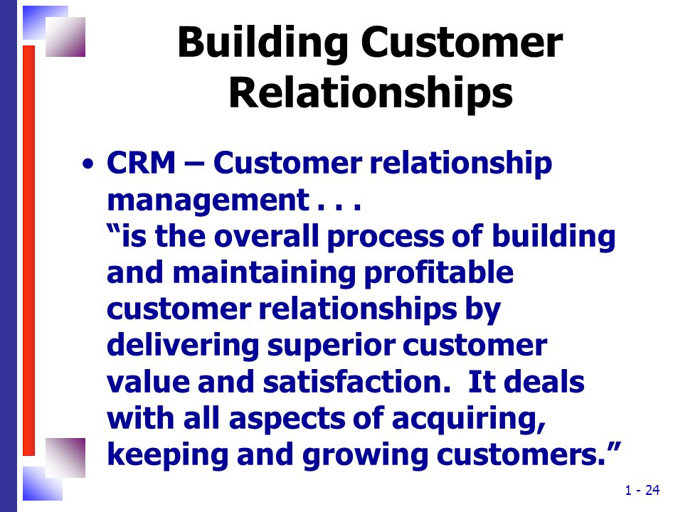 Building Customer Relationships