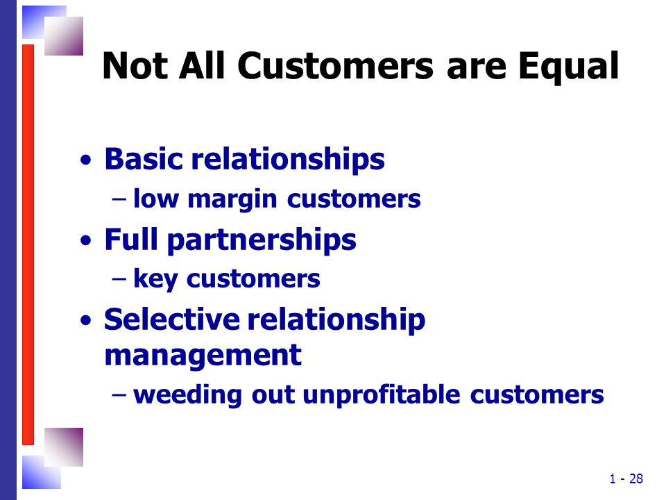 Not All Customers are Equal