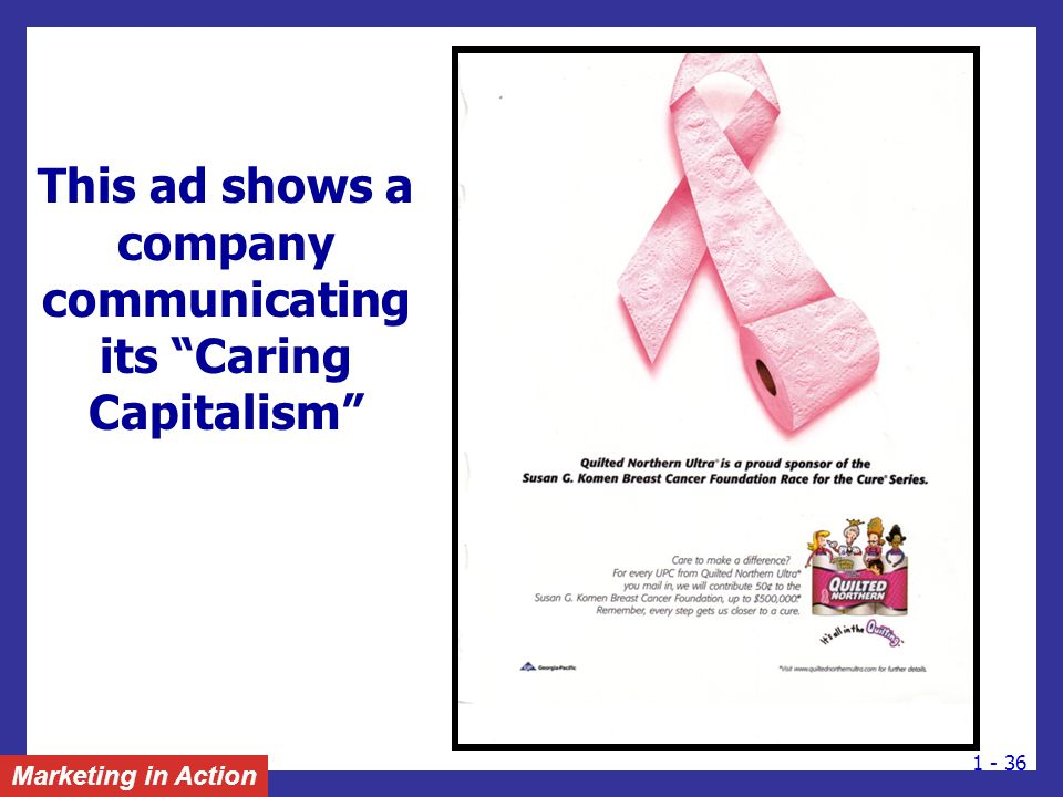 This ad shows a company communicating its Caring Capitalism