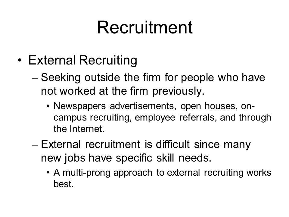 Recruitment External Recruiting