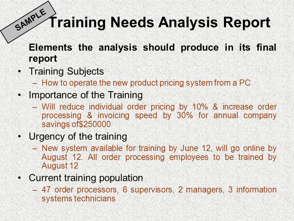 system analysis report sample
