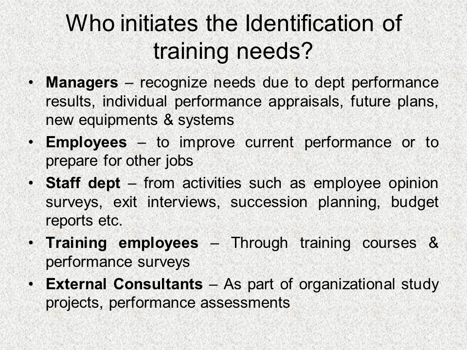 identification of training needs pdf