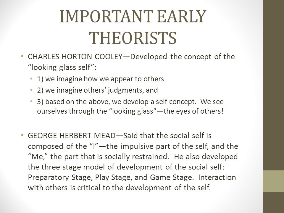 IMPORTANT EARLY THEORISTS