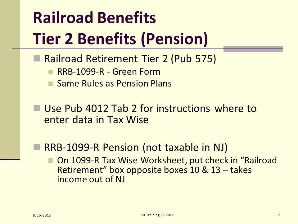 Social Securityrailroad Retirement Benefits Ppt Video Online Download. Worksheet. 1099 R Worksheet At Clickcart.co