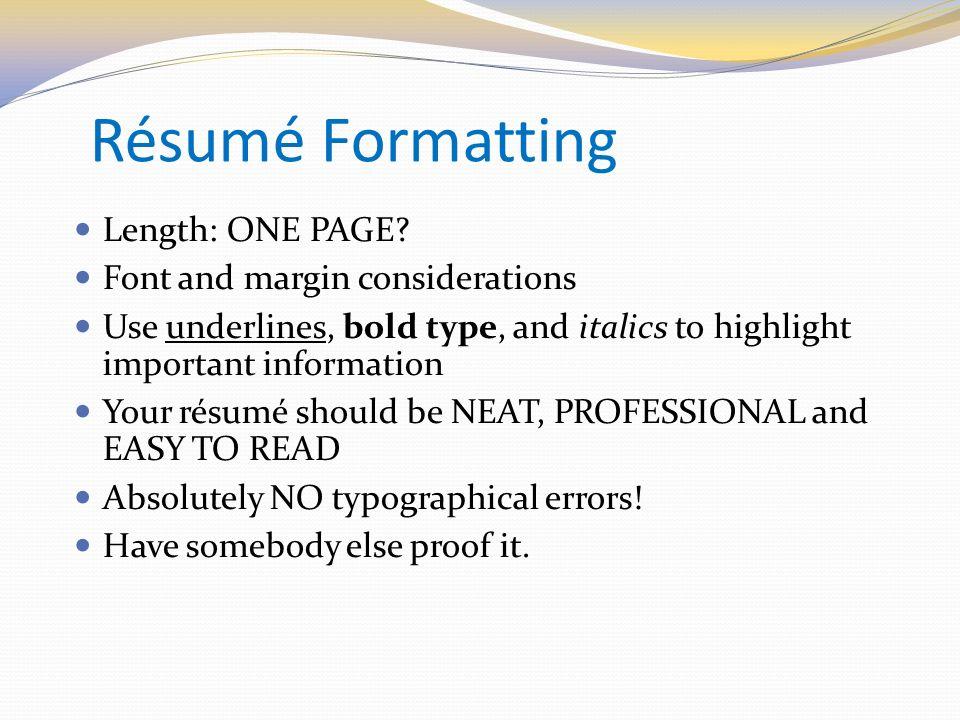 Engineering Your Résumé - ppt video online download