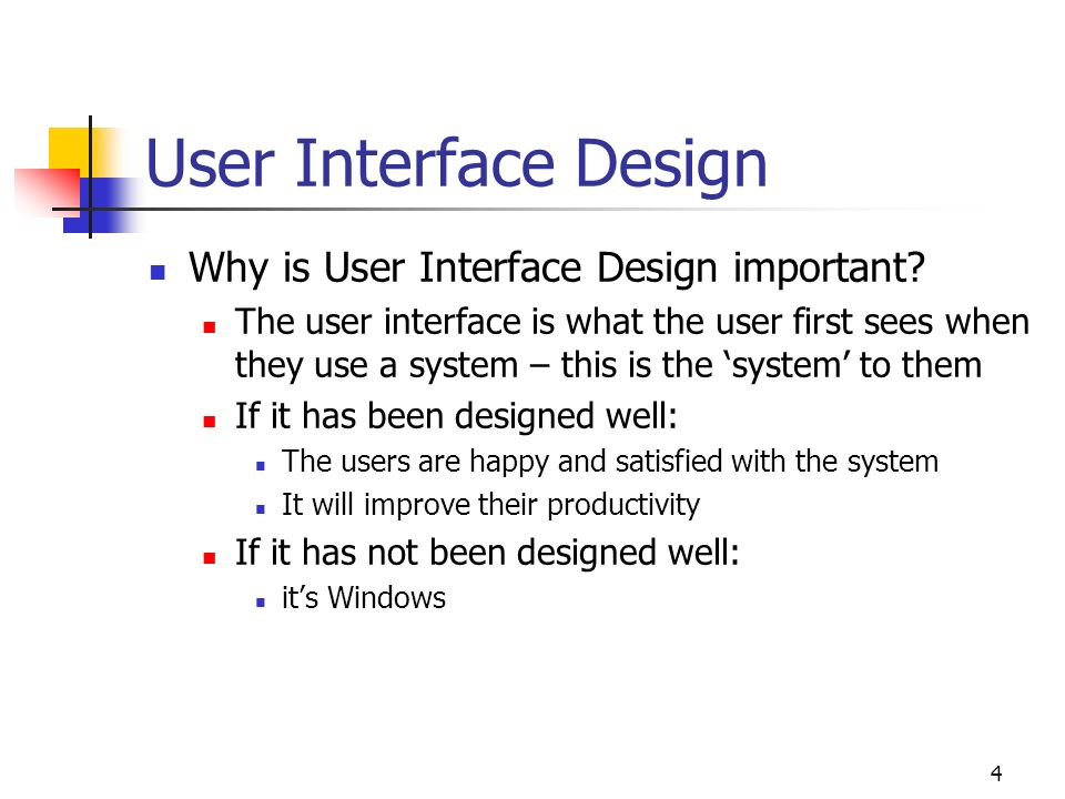 User Interface Theory Design Ppt Video Online Download