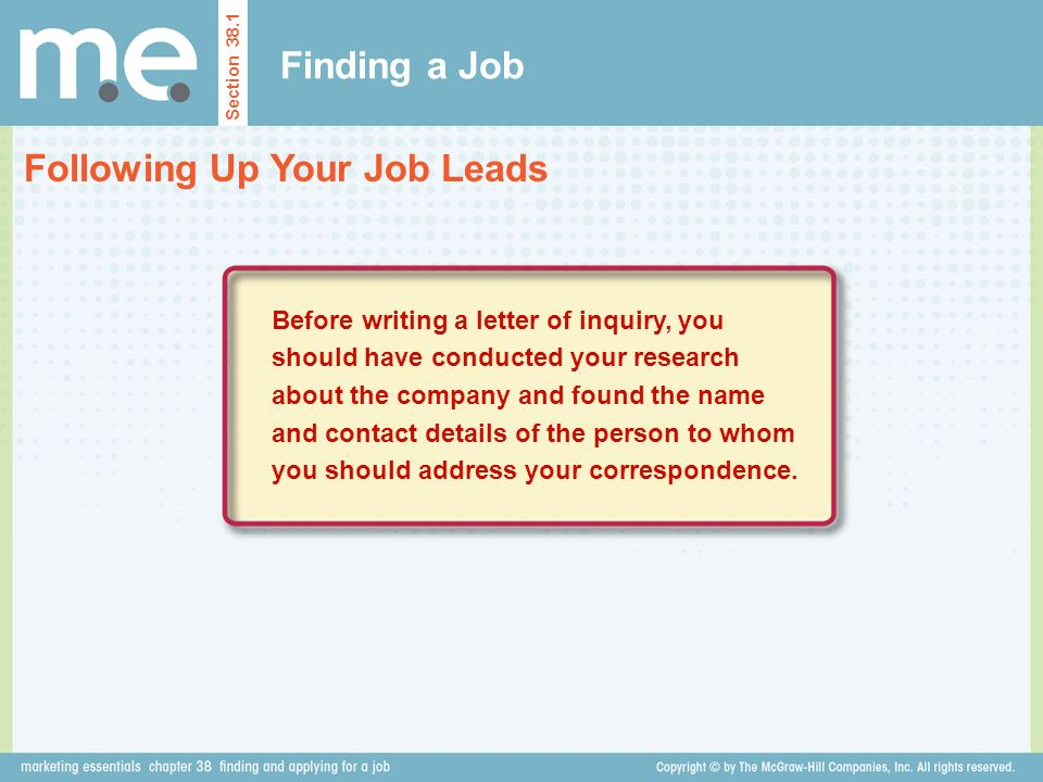 Following Up Your Job Leads
