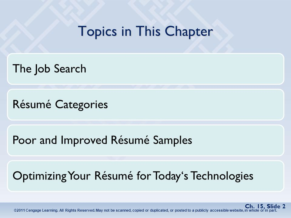 Chapter 15 The Job Search Rsums And Cover Letters Ppt Video
