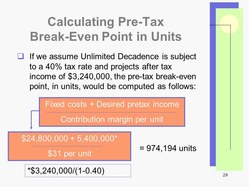 calculating the break even point Solution describes the steps to calculate break even point and degree of operating leverage  calculating the bep and contribution margin in the  the first point is to calculate the contribution  then the contribution margin per unit is calculated  the solution calculates the breakeven level.