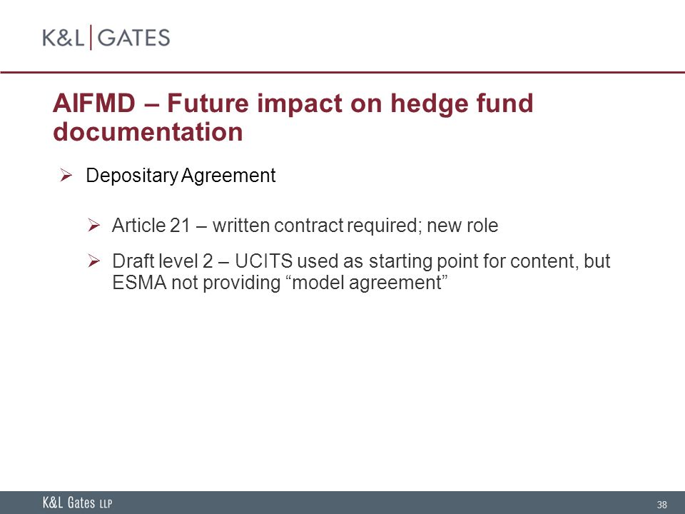 Hedge fund documentation current issues and industry standards 38 aifmd spiritdancerdesigns Image collections