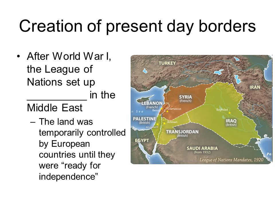 Creation of present day borders
