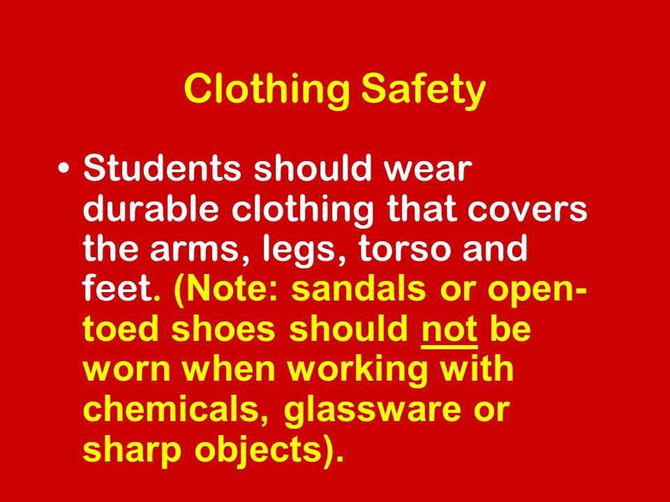 Clothing Safety
