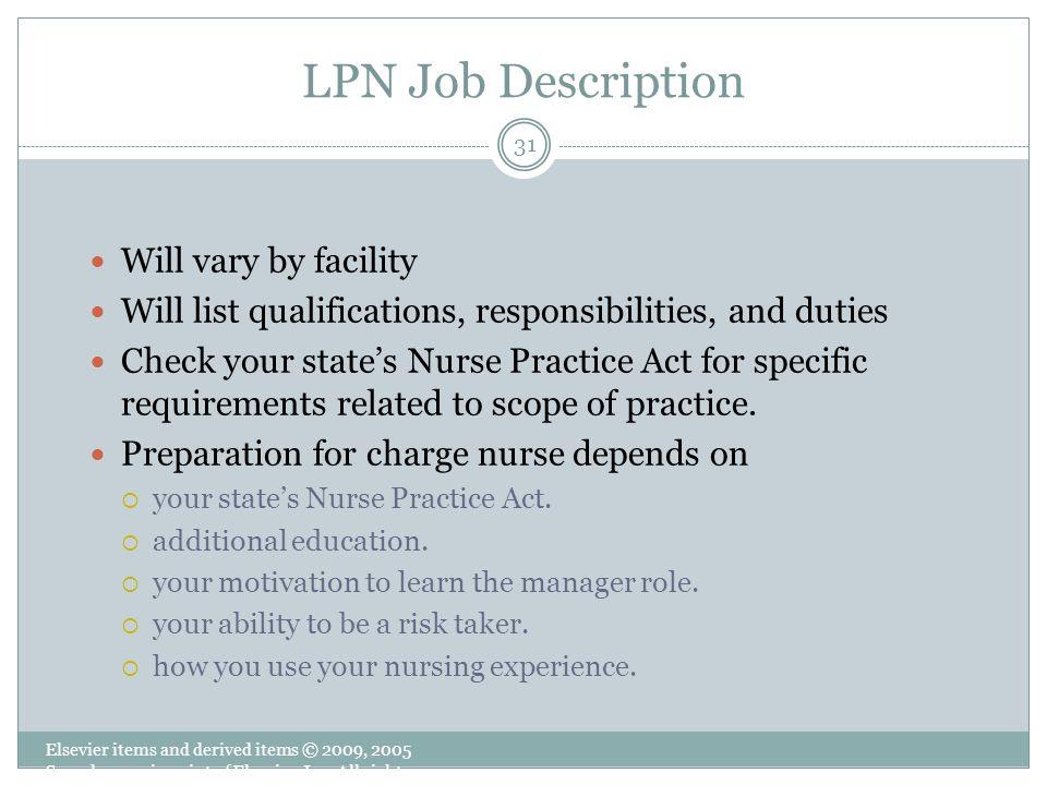 31 LPN Job Description