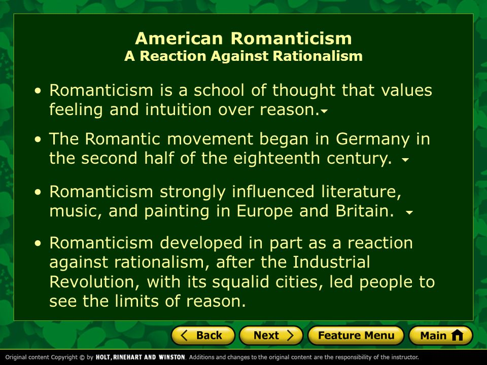 Personal Essay Thesis Statement American Romanticism A Reaction Against Rationalism Essay Examples High School also Thesis Example Essay Unit  Literary Focus Essays  Ppt Video Online Download English Essays Topics