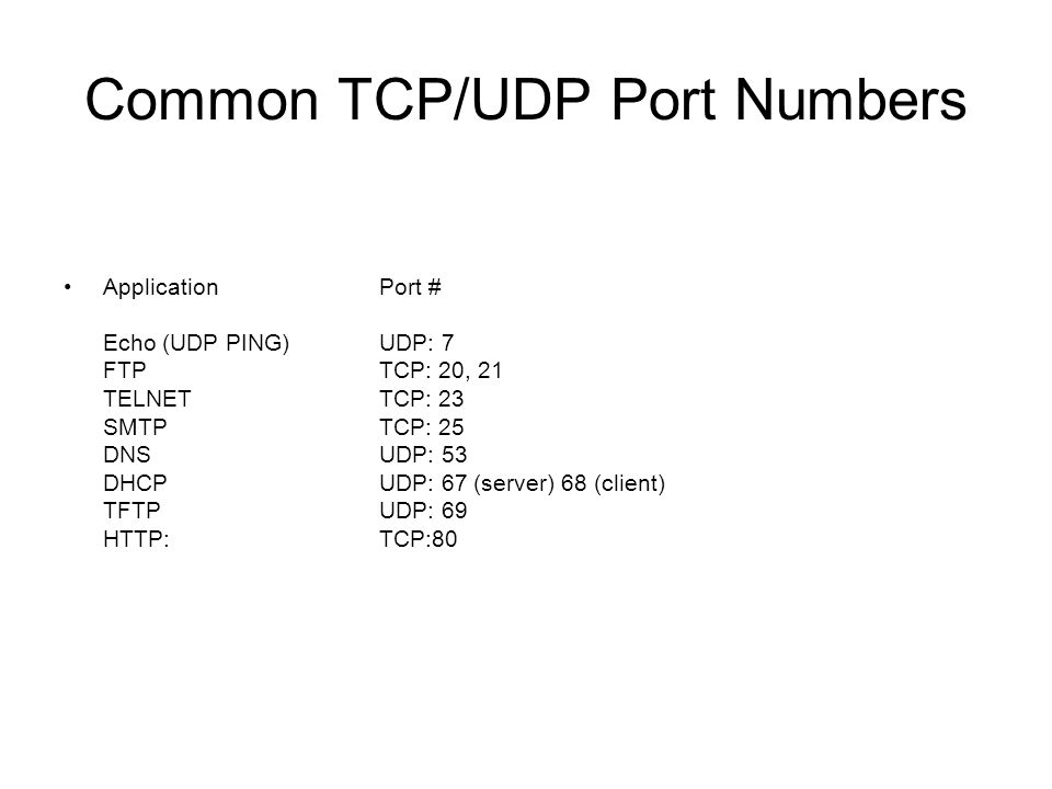 how to get tcp ip port number in linux