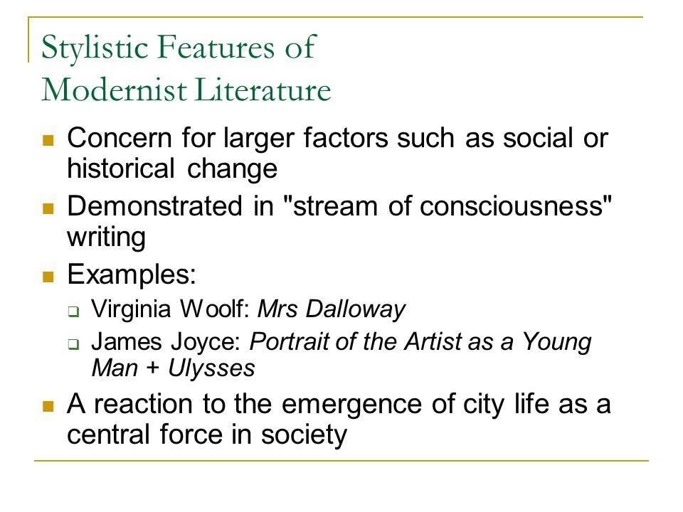 stream of consciousness novel examples