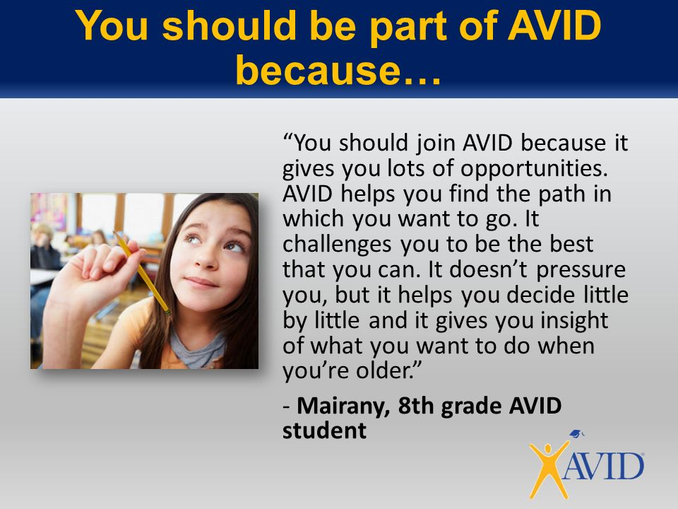 how has avid helped you essay