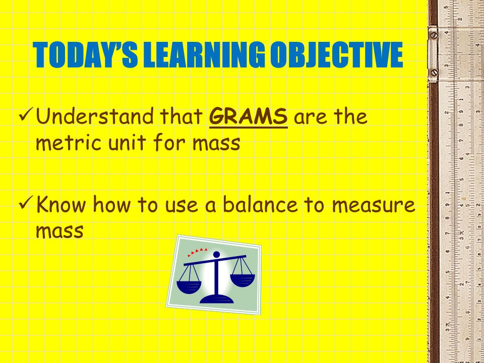 TODAY'S LEARNING OBJECTIVE