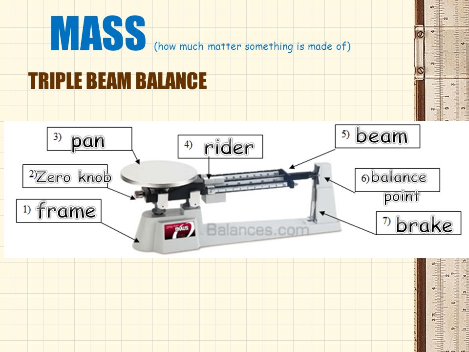MASS (how much matter something is made of)