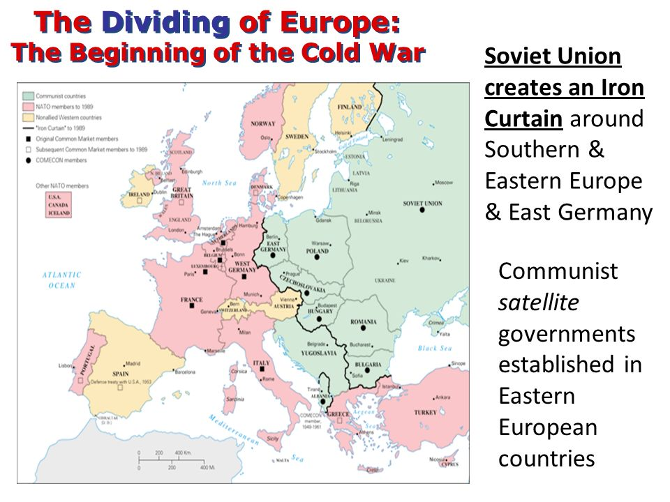 The Dividing of Europe: The Beginning of the Cold War