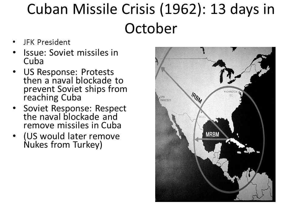 Cuban Missile Crisis (1962): 13 days in October