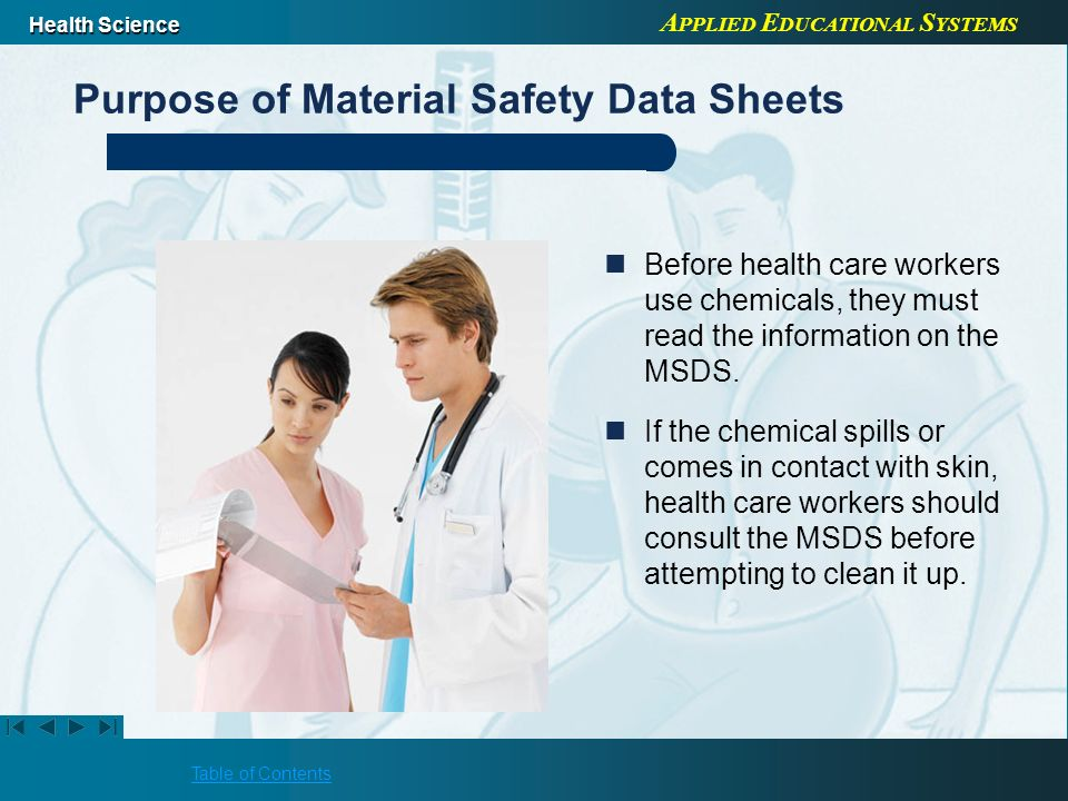 Purpose of Material Safety Data Sheets