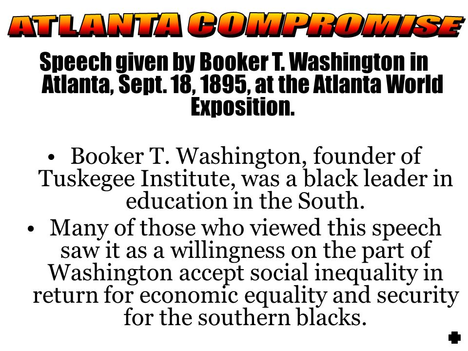 atlanta compromise speech summary