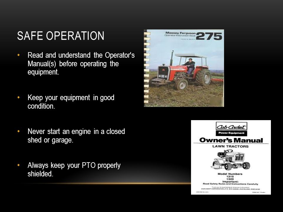 Tractor Safety, Operation, and Maintenance - ppt video