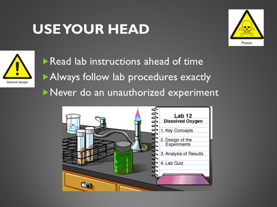 Use Your Head Read lab instructions ahead of time