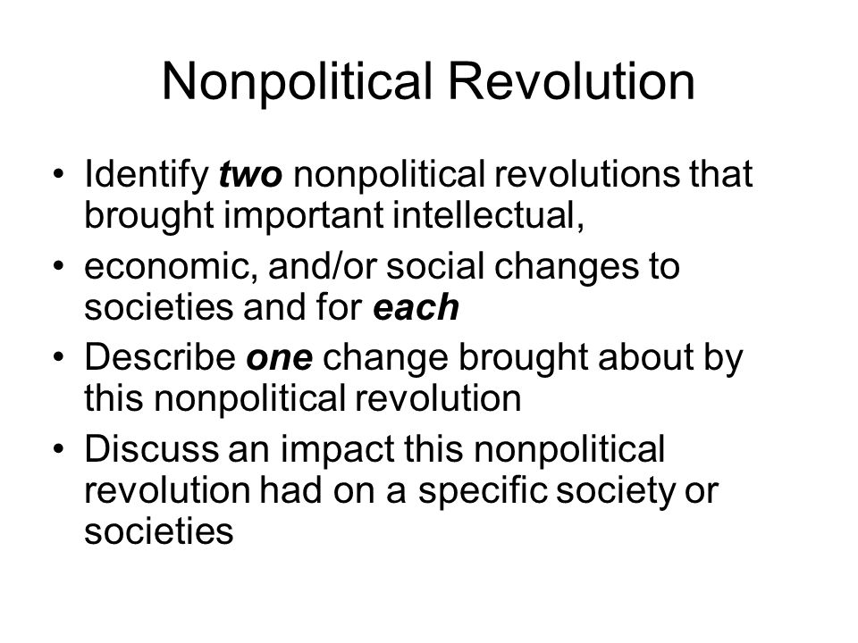 Nonpolitical Revolution