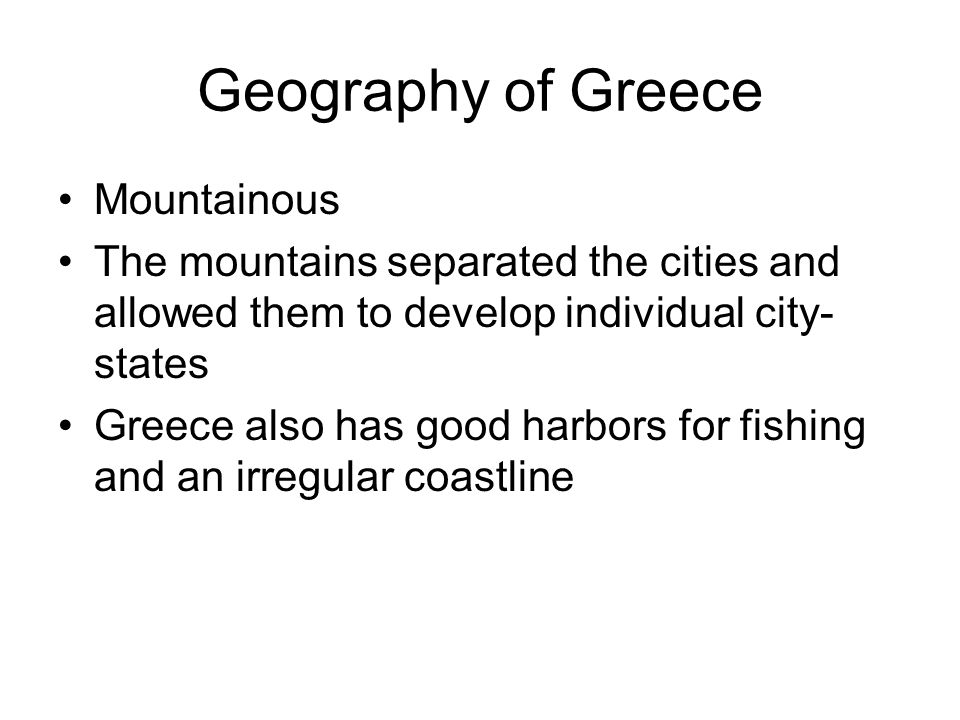 Geography of Greece Mountainous