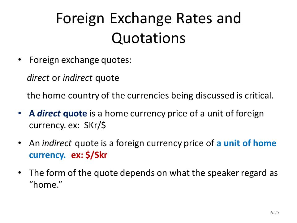 Direct indirect quotations forex risers in investment casting