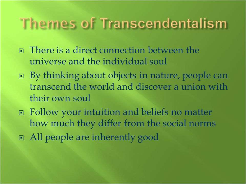 Themes of Transcendentalism