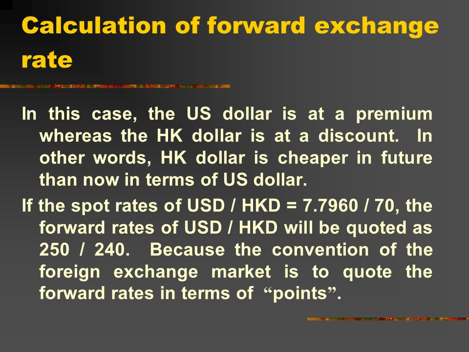 Foreign Exchange Rate Is The Price Of A Currency In Terms