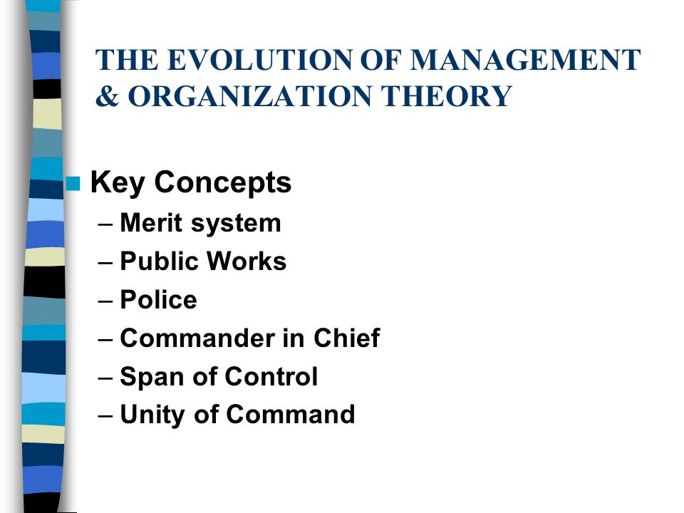 major organizational theories associated with policing