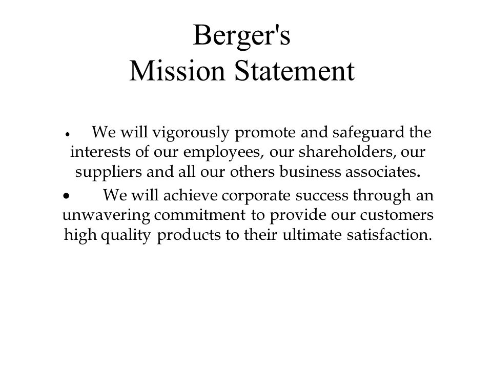 Company Profile The name of BERGER has been associated with paints