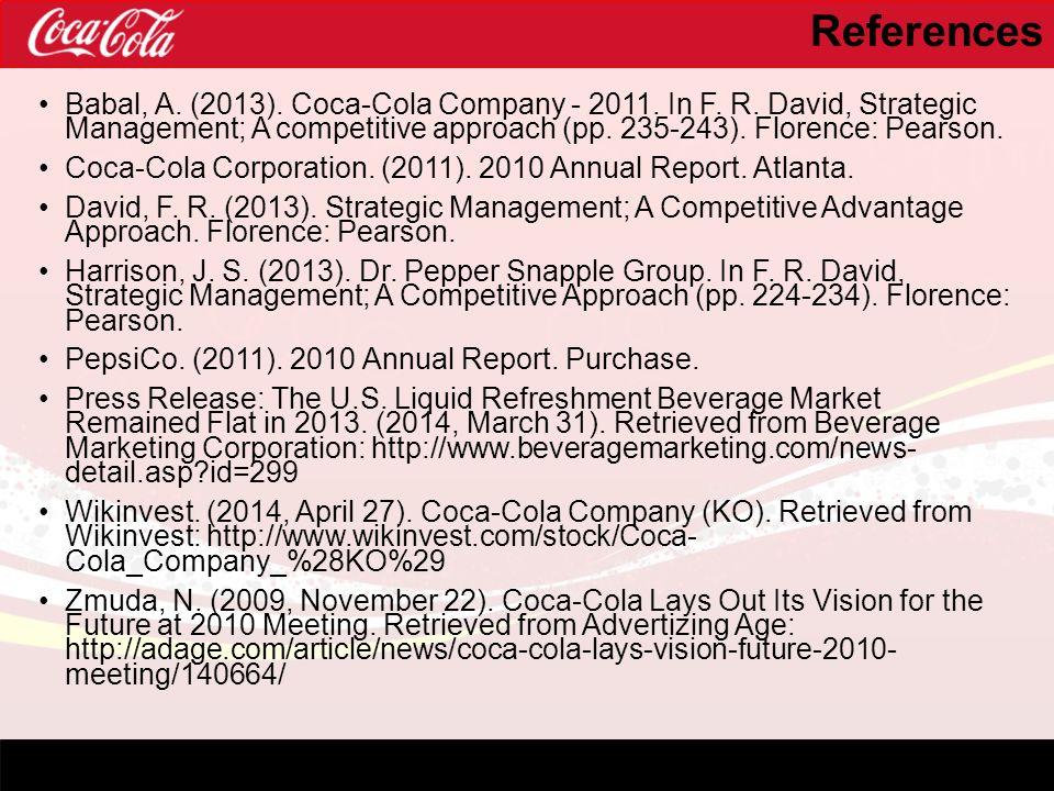 coca cola annual report 2013