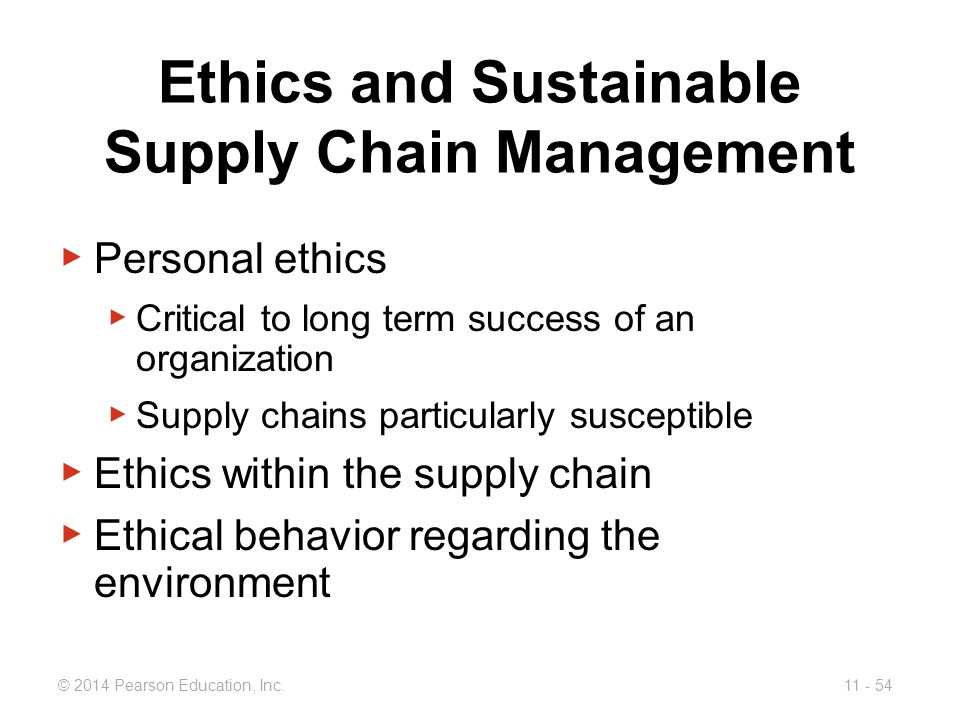 Ethics and Sustainable Supply Chain Management