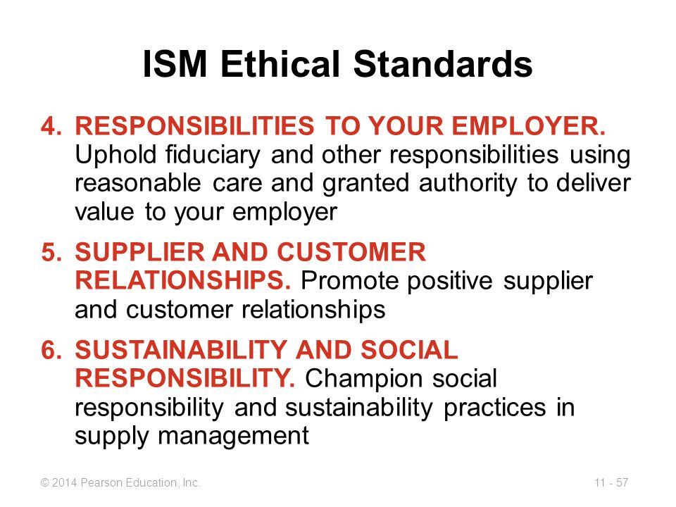 ISM Ethical Standards